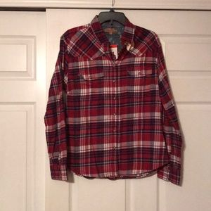 Women's Flannel Button Down Size Medium